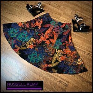 ⚜️ HOST PICK ⚜️ Full Skirt Textured Print W/Bling